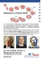 24 November 2016 - Lecture about the Nobel Price in Physics